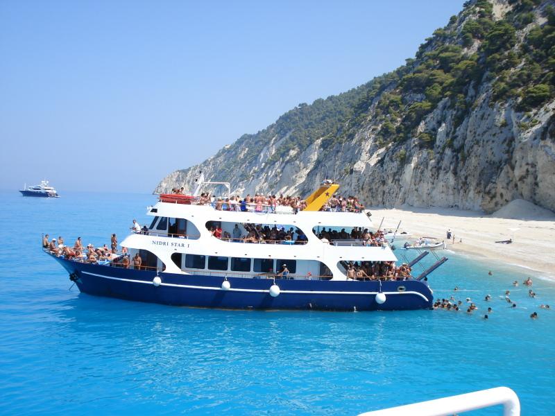 zurka na brodu Lefkada