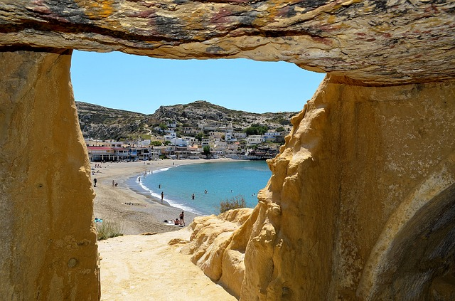 plaža Matala