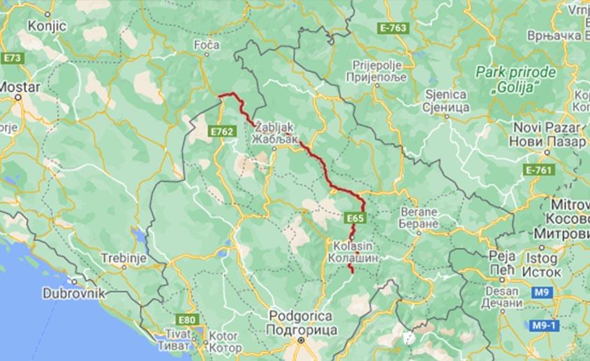 reka tara mapa